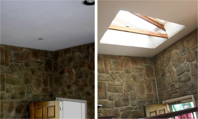 Silver Spring Skylights, before and after